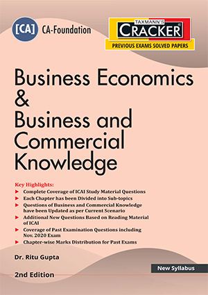 Taxmann Cracker CA foundation Business Economics & Business and Commercial Knowledge 2021