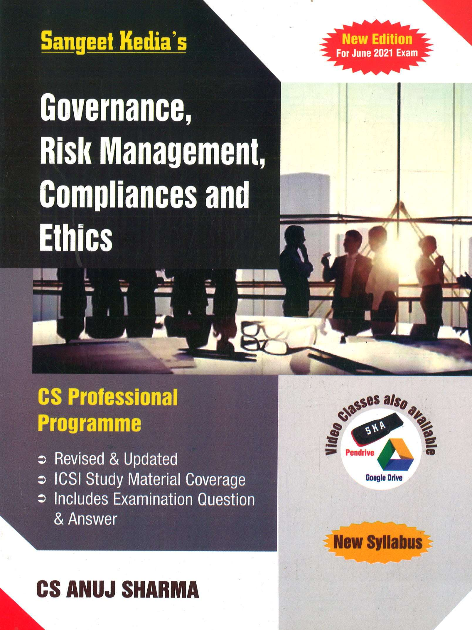 CS Professional Programme Governance Risk Management Compliances and Ethics New Syllabus By CS Sangeet kedia Applicable for 2021 Exam