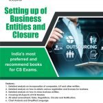 Aj publication CS Executive New Syllabus Setting up of Business Entities and Closure By CS Anoop Jain for 2021 Exam
