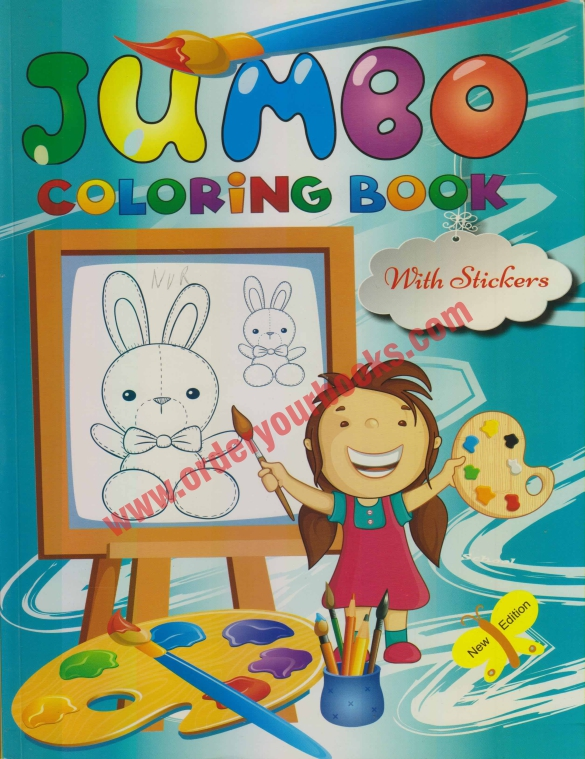 Jumbo Coloring Book with Stickers