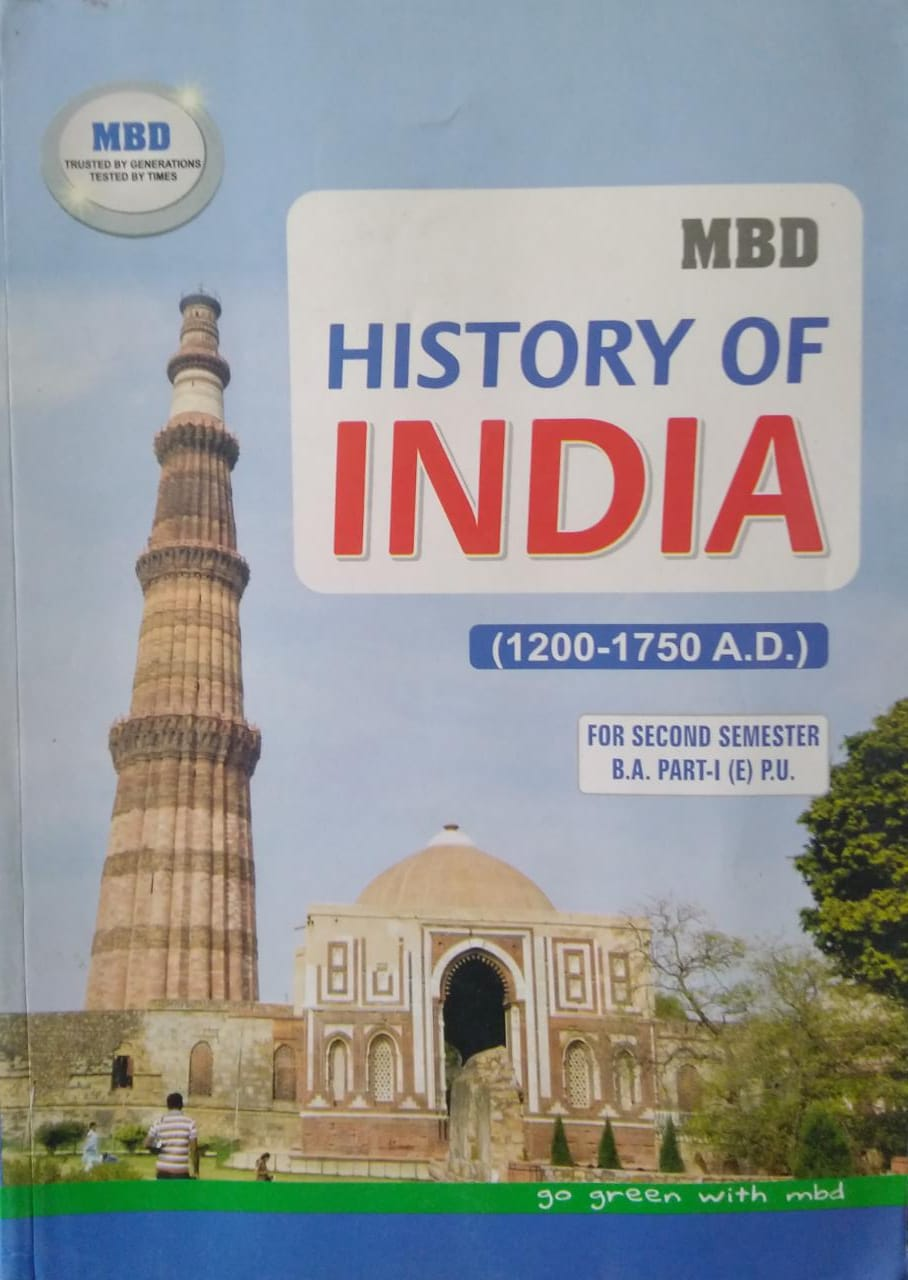 MBD History of India (1200-1750 A.D.) in English For B.A. 2nd Sem. (P.U.) by Mrs. M. Paul 2021