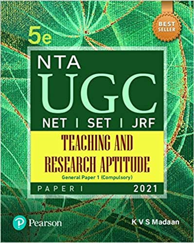 NTA UGC NET/ SET/ JRF : Paper 1 Teaching and Research Aptitude   Fifth Edition   By Pearson K V S Madan