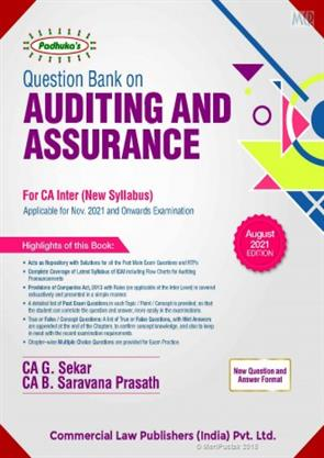 PADUKA'S Commercial's Question bank on Auditing and Assurance by G. Sekar for Nov 2021 Exam