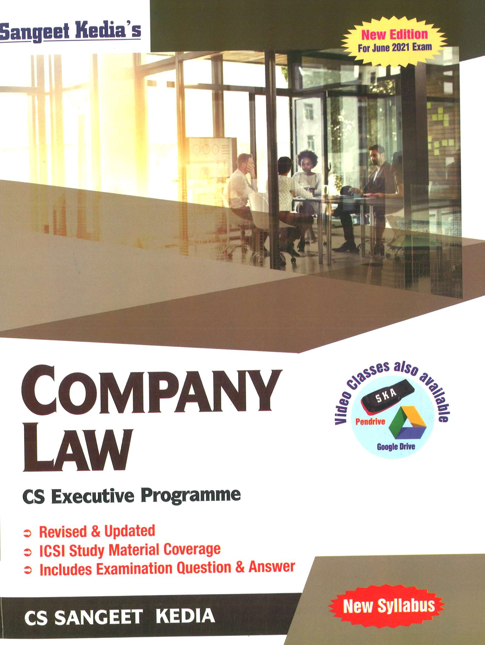 Pooja Law House For CS Executive Company Law new syllabus by Sangeet Kedia (Pooja Law House Publishing) for 2021 exams