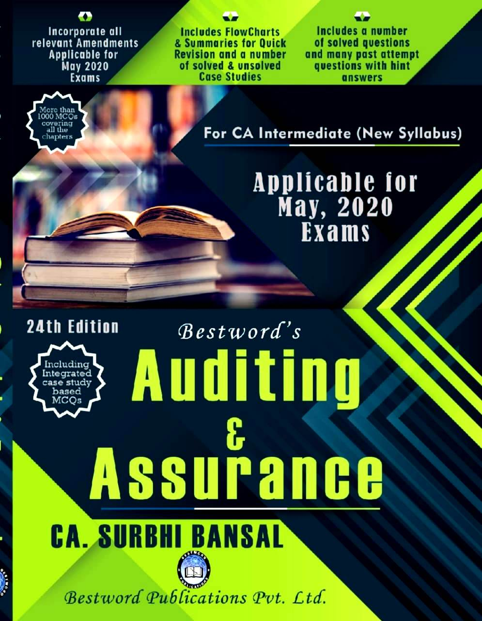 Bestword Auditing and Assurance (old syllabus) for CA IPCC by CA Surbhi bansal 24rd Edition for May, 2020 Exam