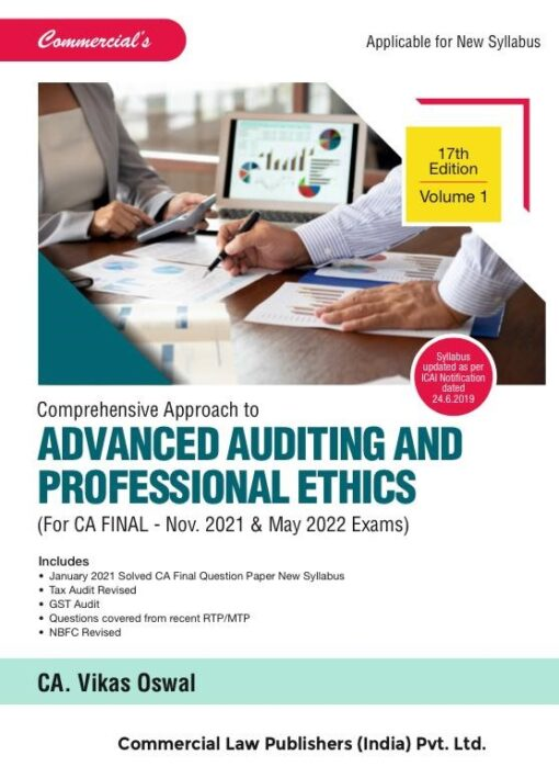 CCH Advanced Auditing and Professional Ethics Both New Syllabus for CA Final By Vikas Oswal Applicable fo 2021 Exam