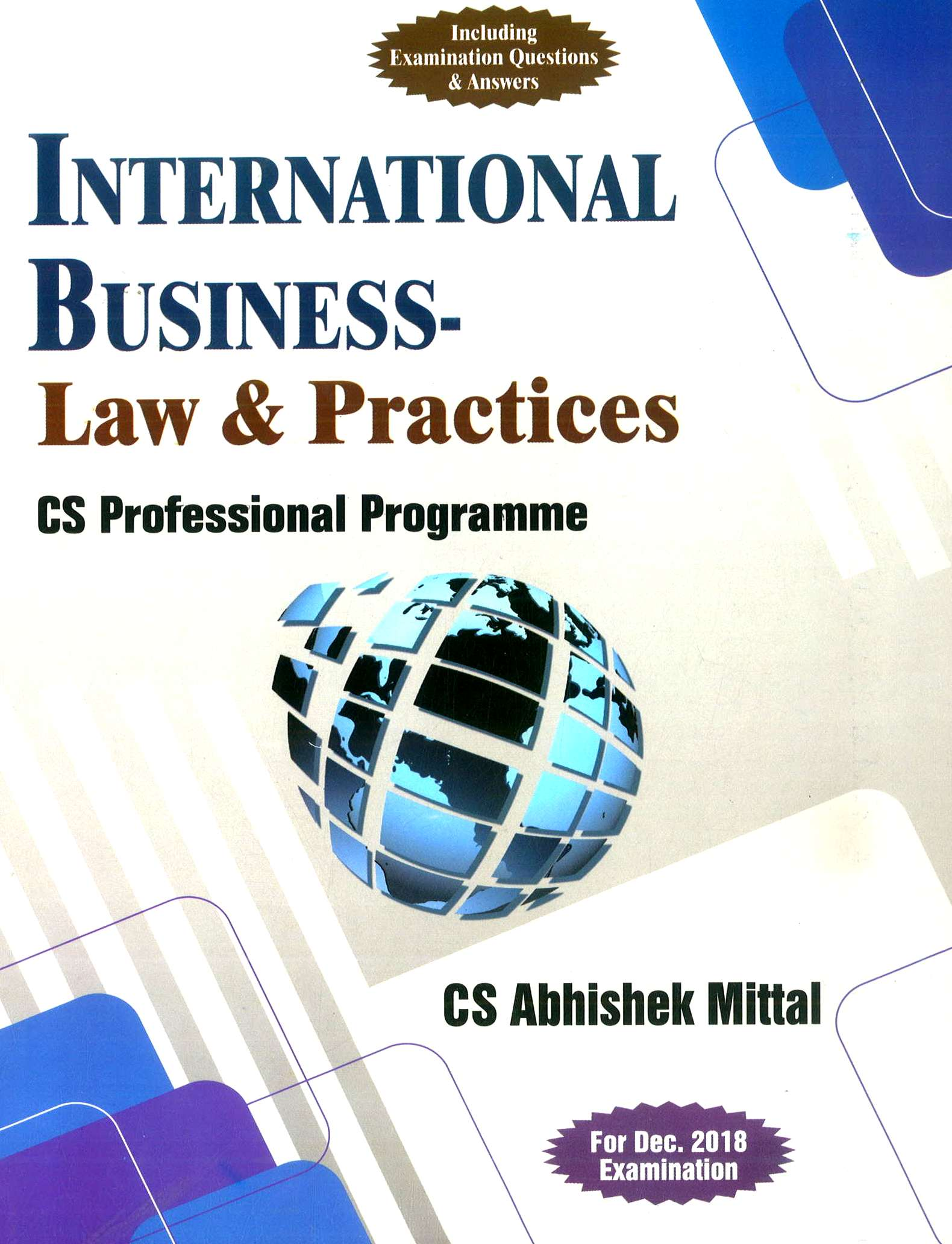 Sangeet kedia CS Professional International Business Law and Practices By Abhishek Mittal Applicable for Dec 2018 Exam