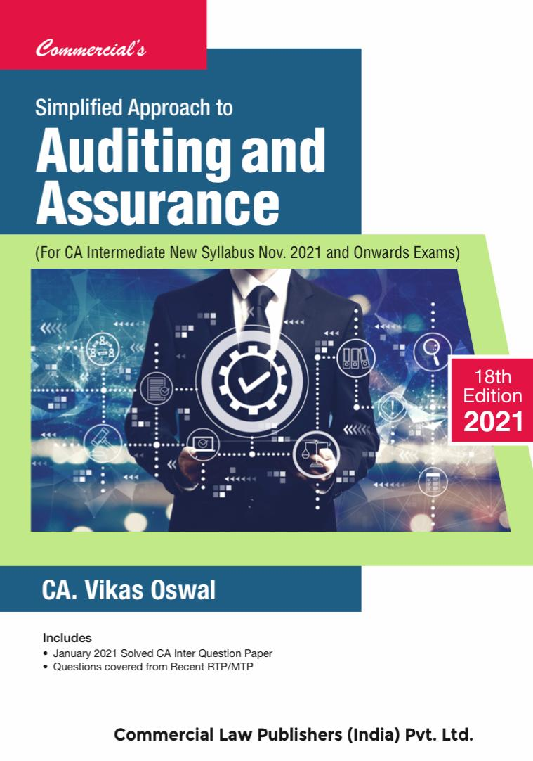 CCH Simplified Approach to Auditing and Assurance New Syllabus for CA IPCC By Vikas Oswal Applicable for 2021 Exams