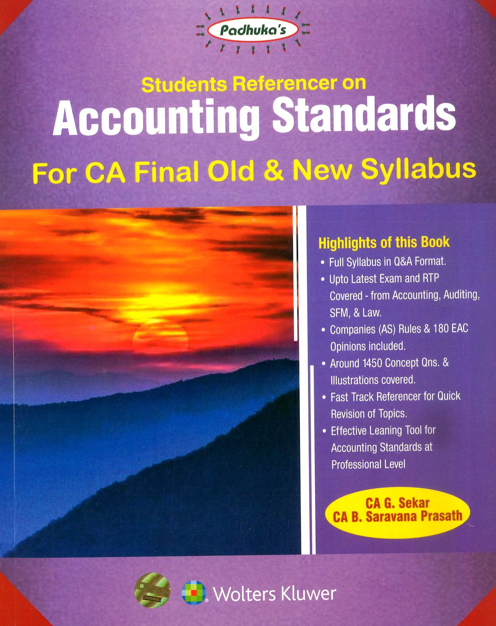 CCH Padhuka Students Referencer on Accounting Standards For CA Final New Syllabus By By G Sekar , B Sarvana Prasath Applicable for May 2020 Exam