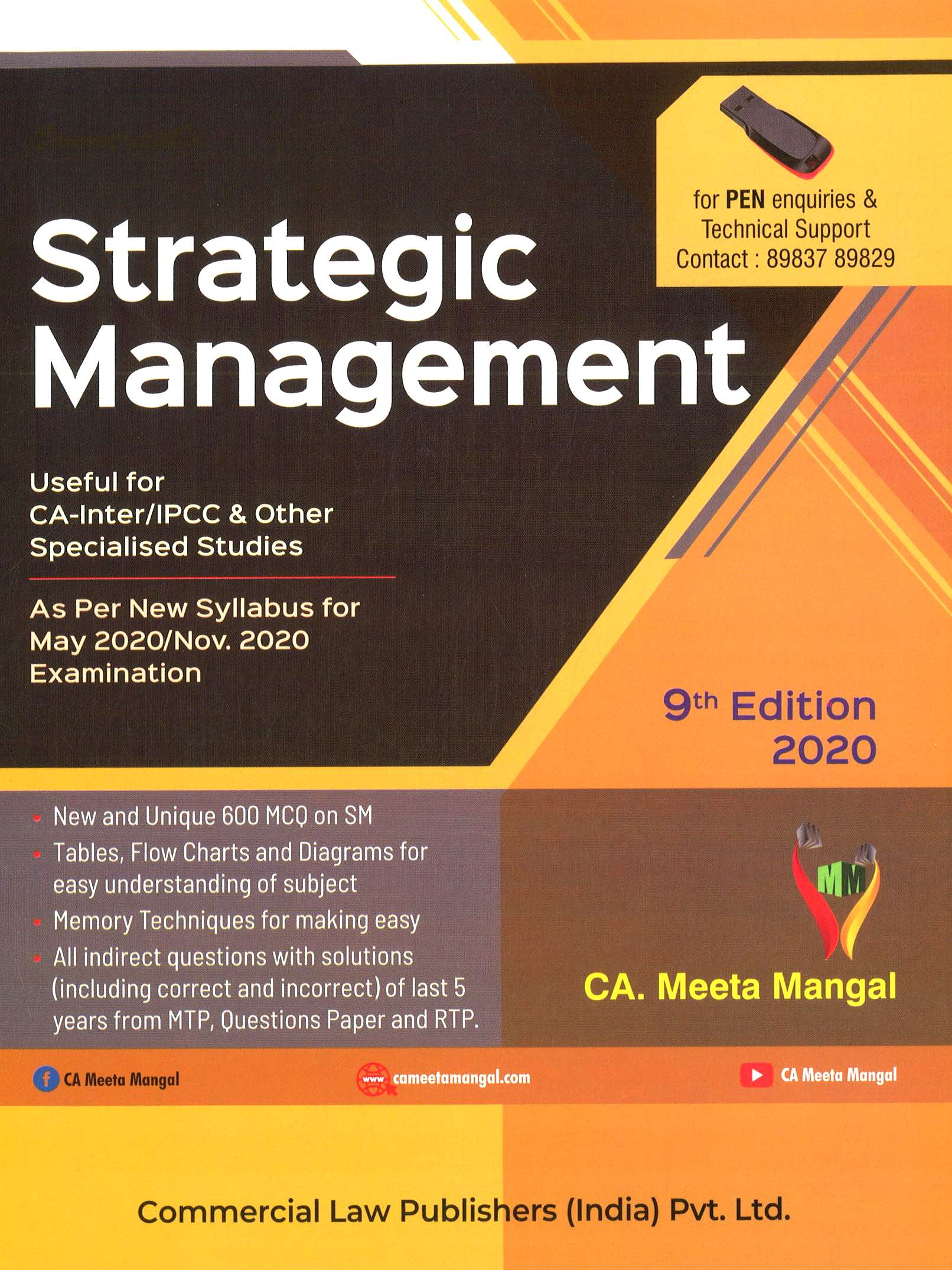 Commercial CA-Inter Strategic Management New Syllabus By CA Meeta Mangal Applicable for May / November 2020 Exam