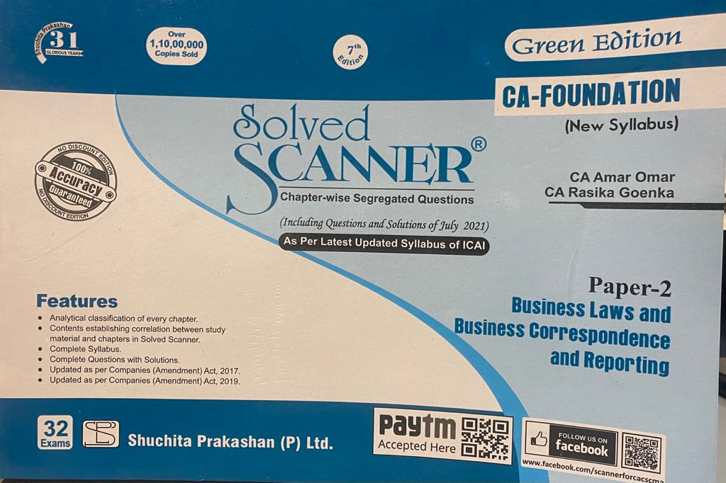 Shuchita CA Foundation Paper-2 Business law and business correspondencs reporting by CA Amar Omar & CA Rasika Goenka for 2021 ATTEMPT