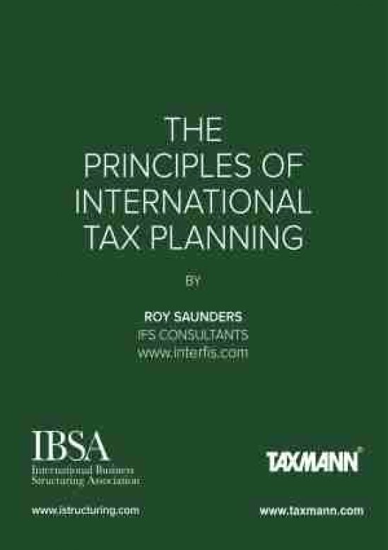 The Principles of International Tax Planning 1