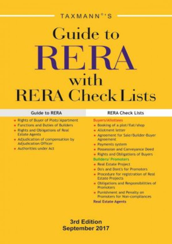 Guide to RERA with RERA Check Lists 1