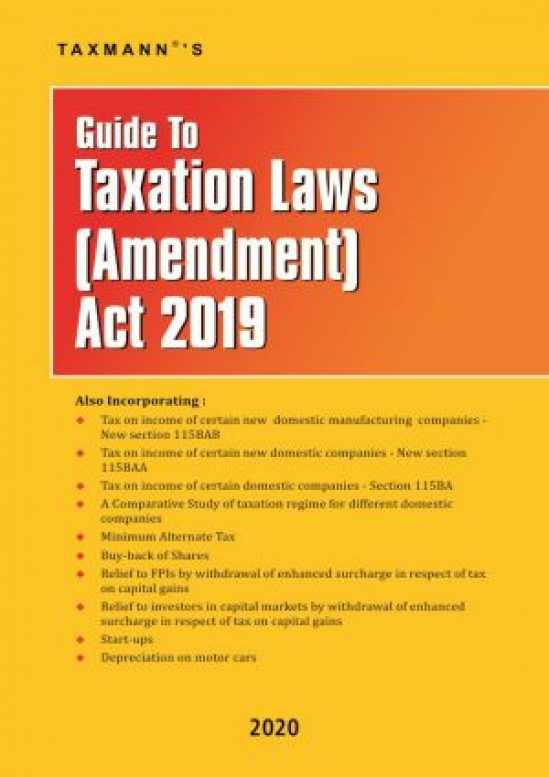 Guide To Taxation Laws (Amendment) Act 2019 1