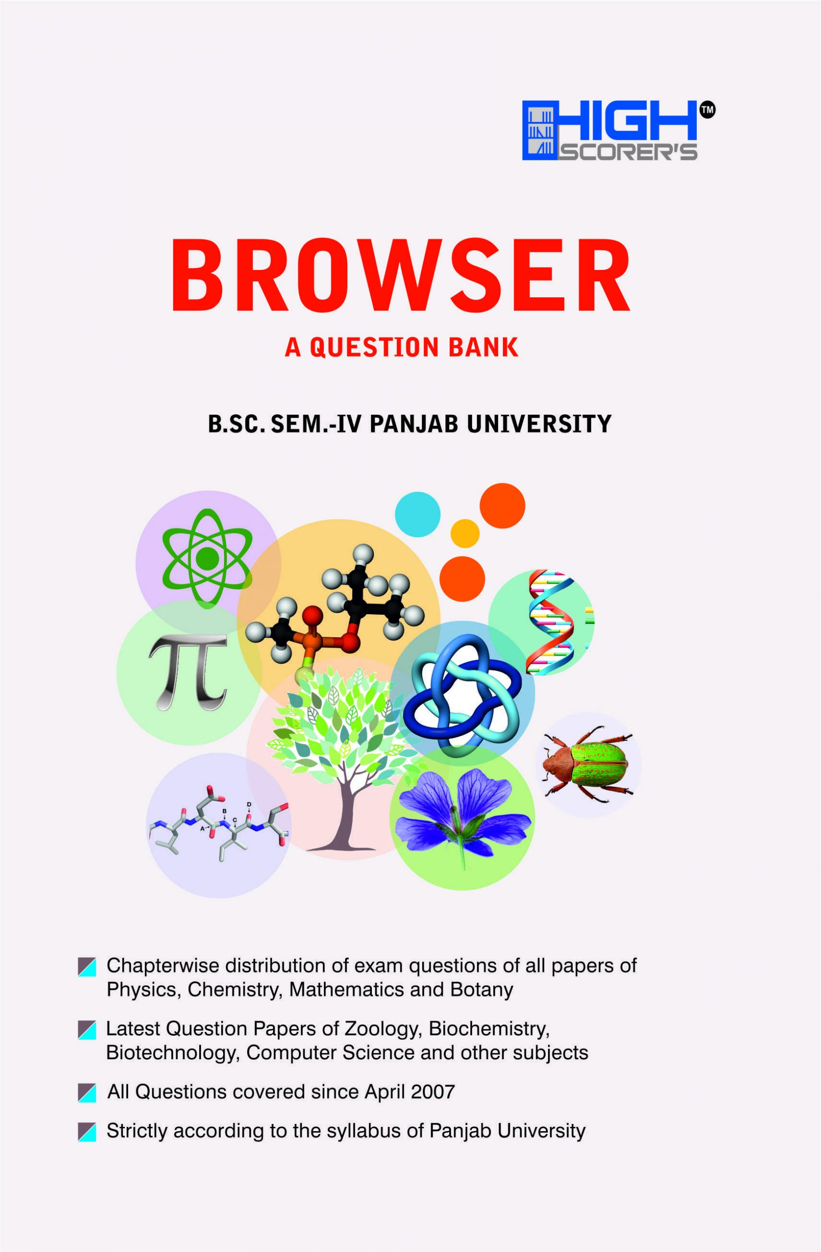 High Scorer's Browser (A Question Bank) for B.Sc. Semester-IV (Mohindra Publishing House) Edition 2020 for Panjab University