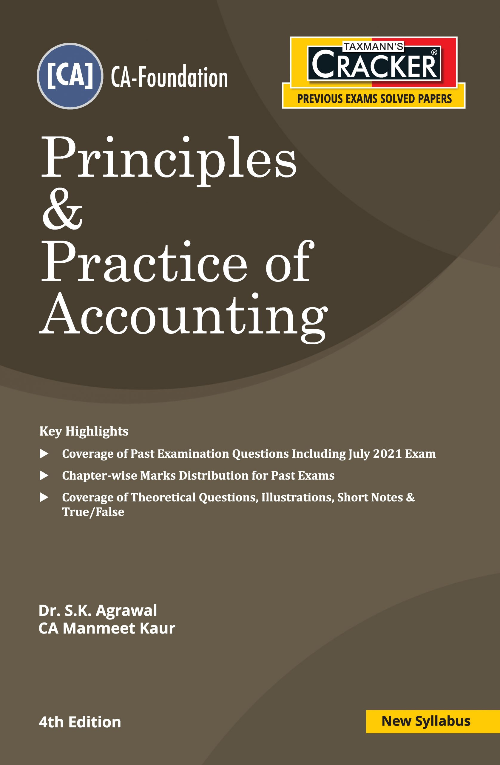 Taxmann Cracker CA foundation Principles & Practice of Accounting 2021