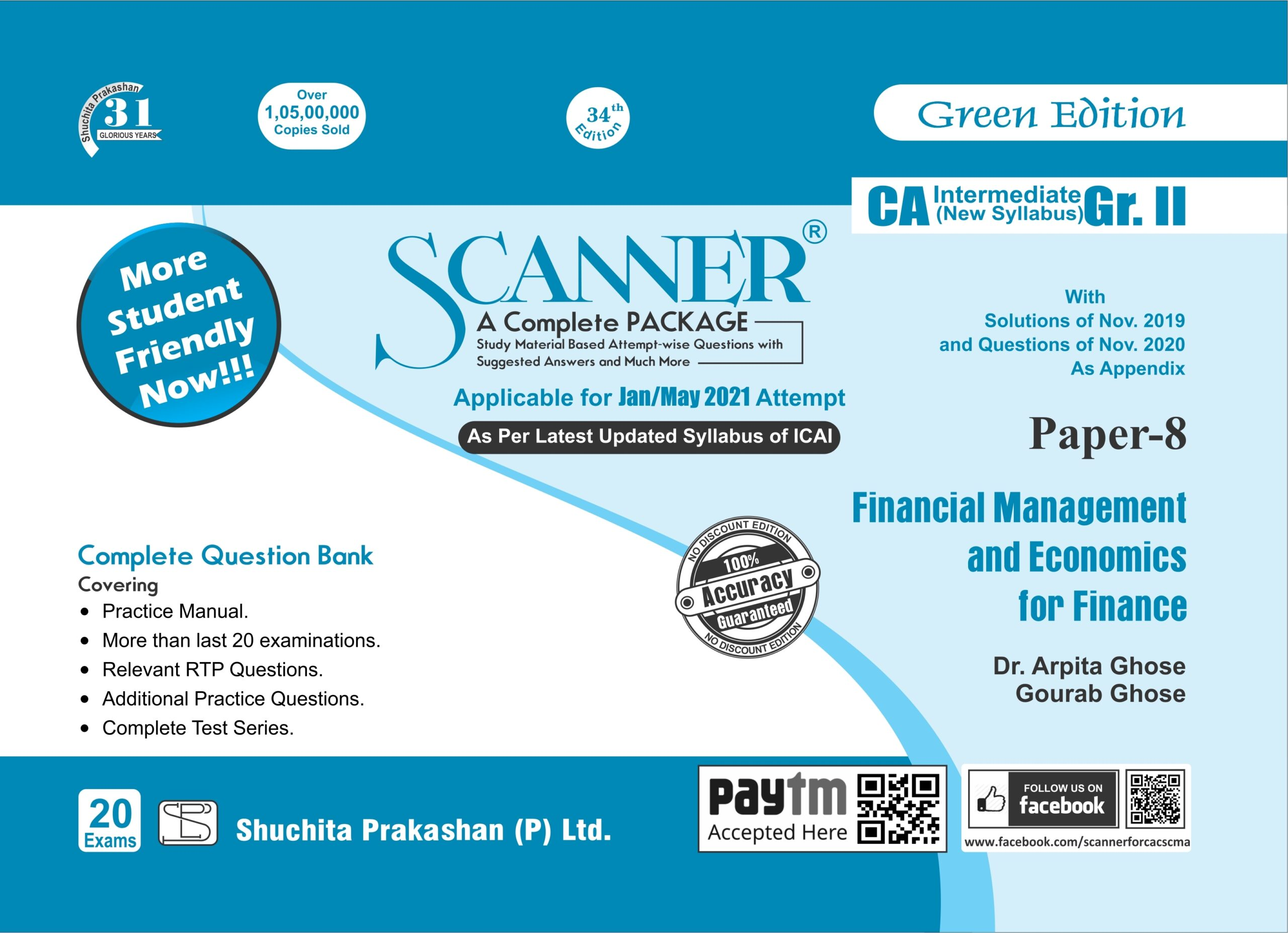 Shuchita CA Inter Group II Paper-8 Solved Scanner Financial Management and Economics for Finance for 2021 TTEMPT