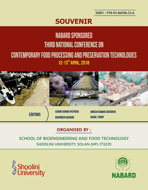 Nabard Sponsored Third National Conference on Contemporary Food Processing And Preservation Technologies