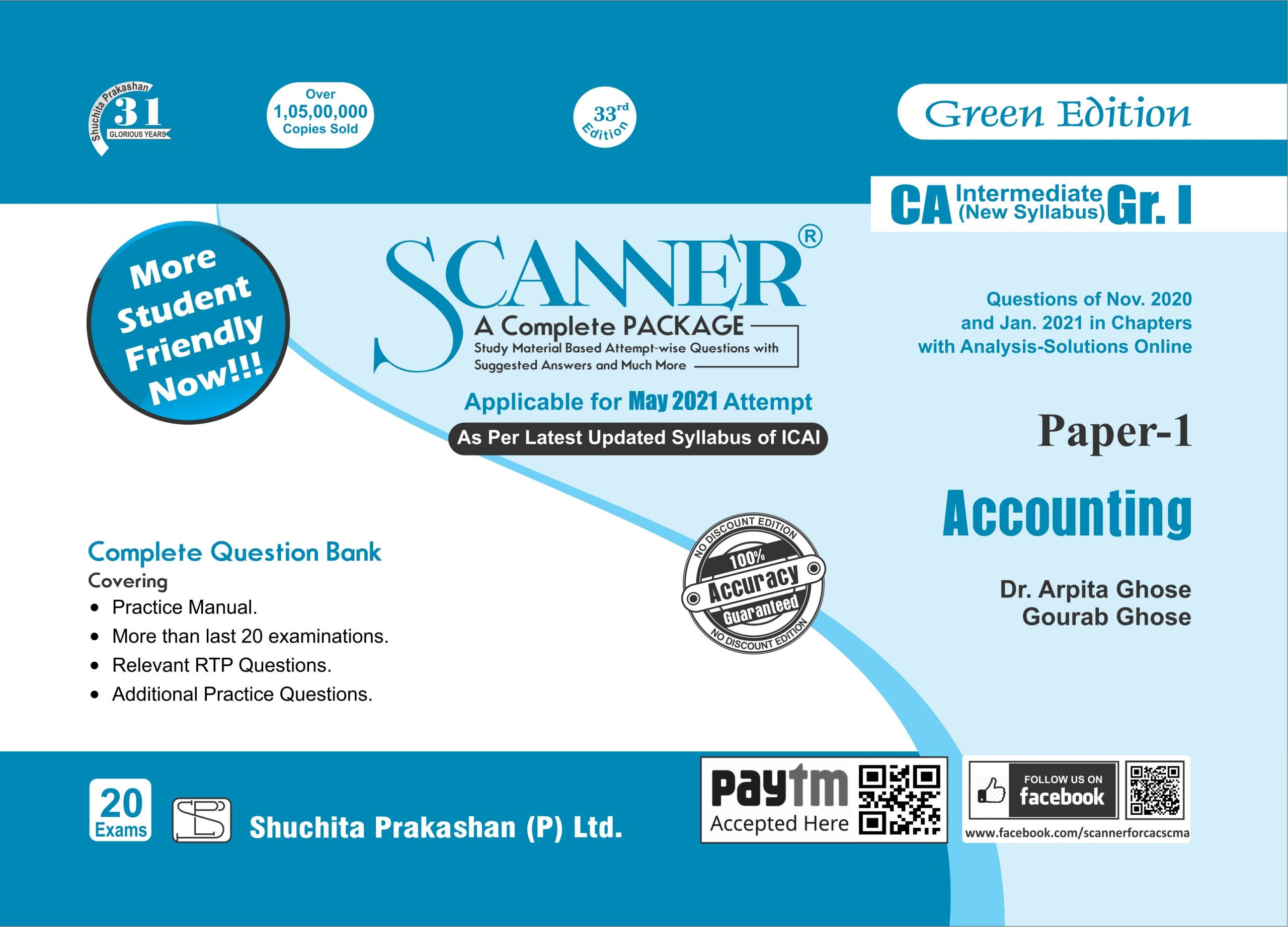 Shuchita CA Inter Group I Paper-1 Solved Scanner Accounting for Nov 2021 exams