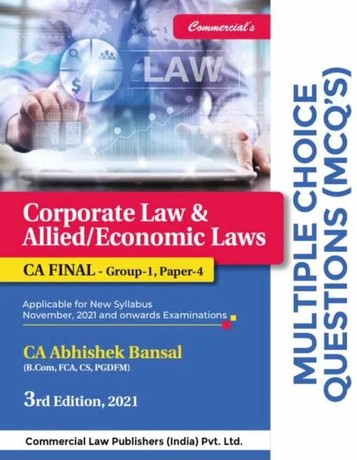 Commercial MCQ'S CA Final Corporate Economic & Allied Laws By Abhishek Bansal Applicable for Nov 2021 Exam