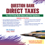 Padhuka's Question Bank Direct Taxes For CA Final By Ca G Sekar (Wolters Kluwer Publishing) Edition May 2020