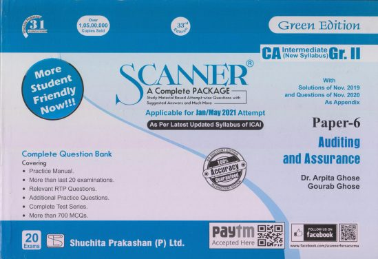 Shuchita CA Inter Group II Paper-6 Solved Scanner Auditing and Assurance for May June 2021 ATTEMPT 1