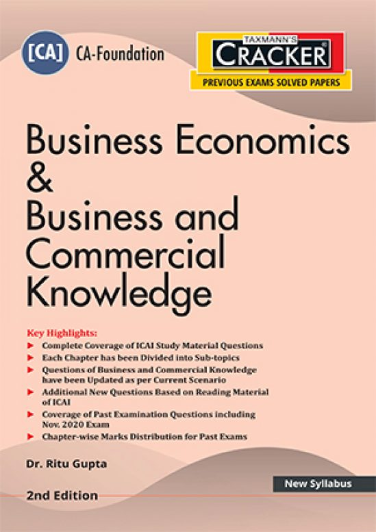 Taxmann Cracker CA foundation Business Economics & Business and Commercial Knowledge 2021 1