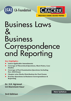 Taxmann Cracker CA foundation Business Laws & Business correspondence and Reporting 2021