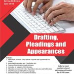 Aj publication CS Professional Programme Drafting Pleadings And Appearances New Syllabus By CS Anoop Jain Applicable for for 2021 Exam