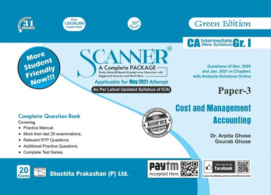 Shuchita CA Inter Group I Paper-3 Solved Scanner Cost and Management Accounting for May June 2021 ATTEMPT 1