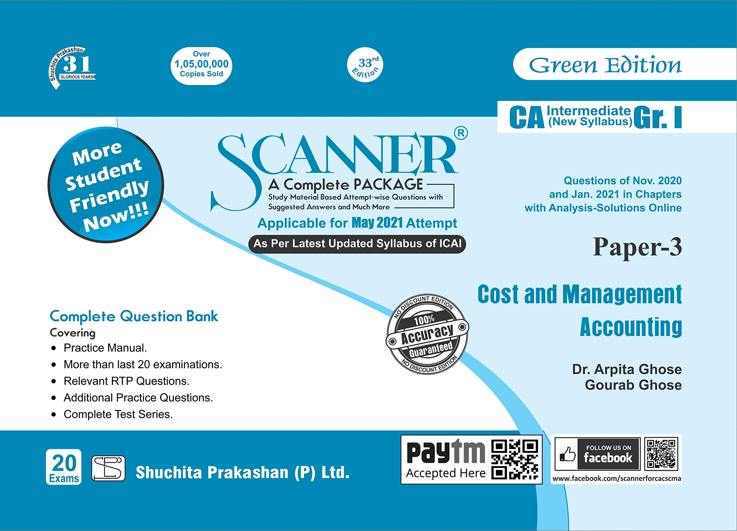 Shuchita CA Inter Group I Paper-3 Solved Scanner Cost and Management Accounting for 2021 ATTEMPT