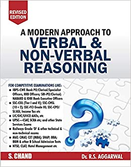 A Modern Approach to Verbal & Non-Verbal Reasoning (2 Colour Edition) by R.S. Aggarwal