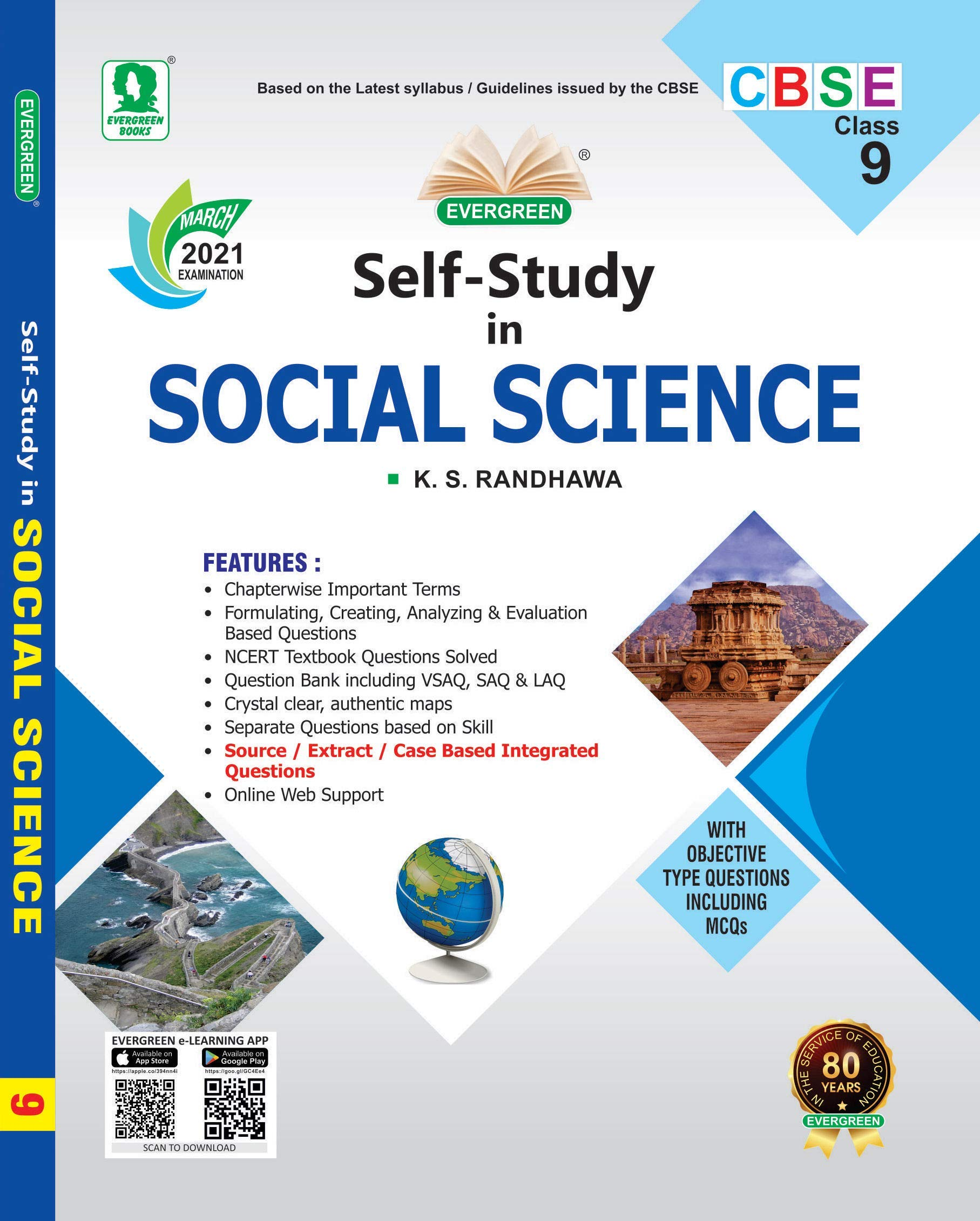Evergreen CBSE Self Study In Social Science: For March 2022 Examinations(CLASS 9) Paperback – 1 January 2020