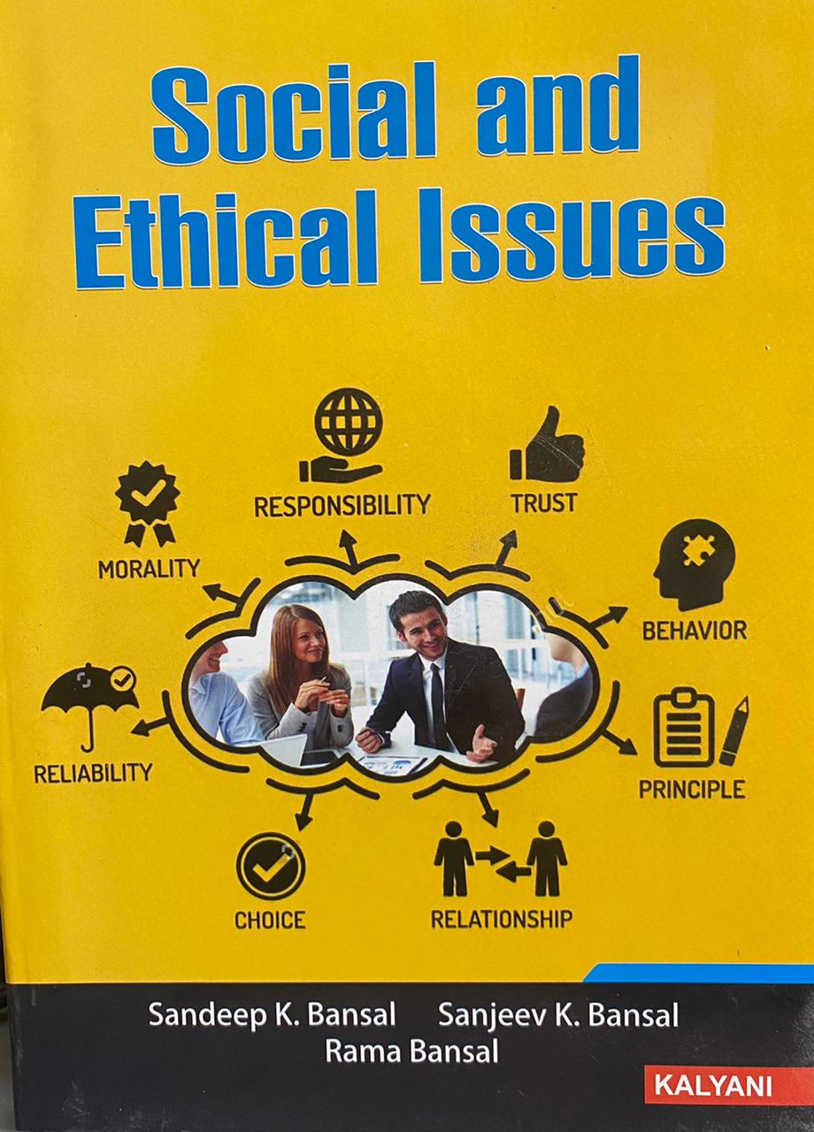Kalyani Social and Ethical Issues for BBA, 6th Sem., (P.U.) by Sandeep K. Bansal Edition 2021