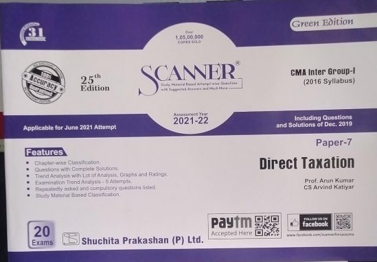 Shuchita Paper 7 CMA Inter New Syllabus Group 1 Direct Taxation for by Prof