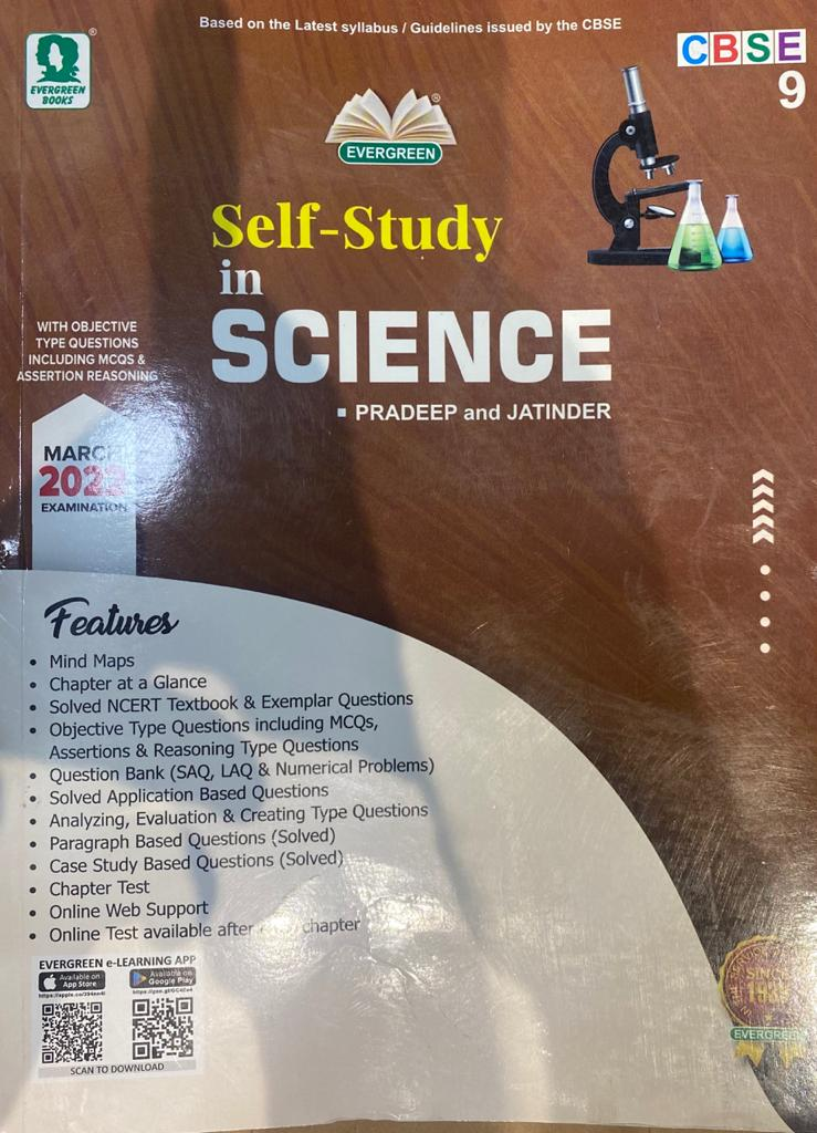 Evergreen CBSE Self Study In Science: For March 2022 Examinations(CLASS 9) Paperback