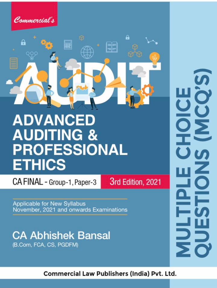 Commercial MCQs CA Final Advanced auditing and professional ethics CA Final By Abhishek Bansal Applicable for 2021 Exam