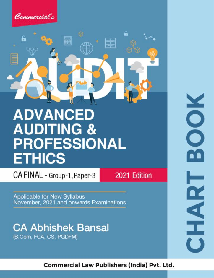 Advanced Auditing and Professional Ethic (Chart Book) for CA Final 2021 EXAMS by Abhishek Bansal, Commercial Law Publishers India Pvt Ltd