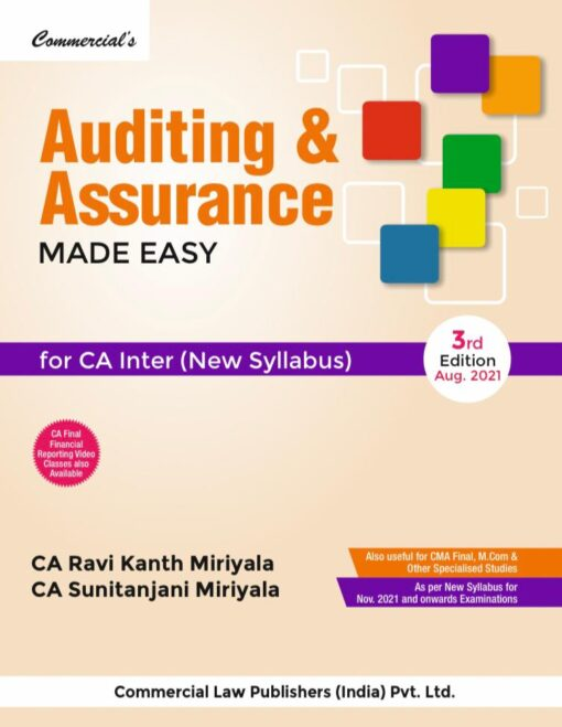 Commercial's Auditing and Assurance Made Easy by Ravi Kanth Miriyala for Nov 2021