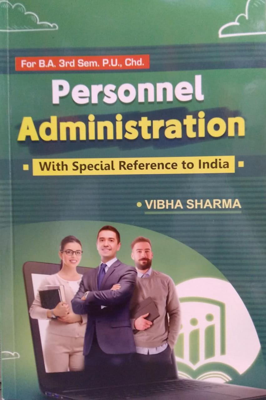Crown books Personnel Administration with Special Reference on India For B.A. Sem.3 by Vibha Sharma Edition 2021